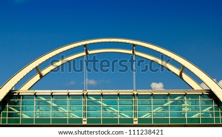 Pedestrian bridge with an arch