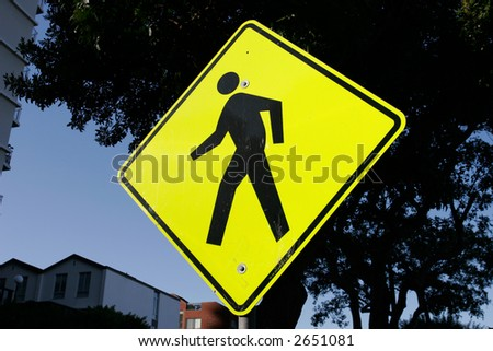 Pedestrian Warning Sign