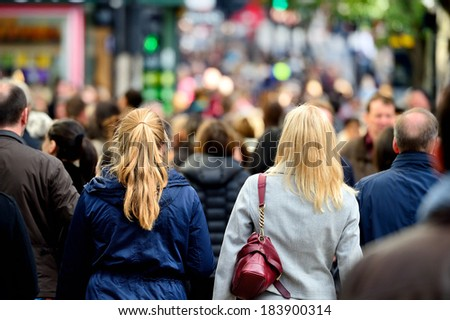 Pedestrians / shoppers on street
