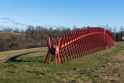 Pedvale outdoor art museum in latvia