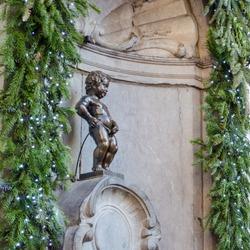 Peeing Boy Statue in Brussels