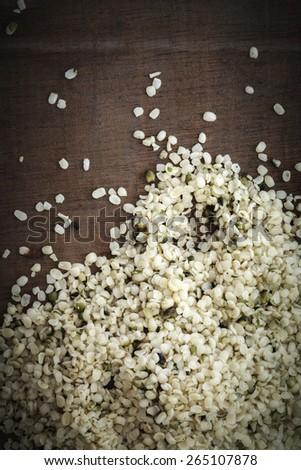 Peeled hemp seeds #265107878