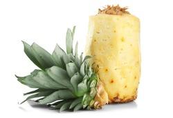 Peeled pineapple isolated on white