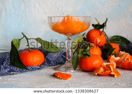peeled tangerine slices, tangerine compote #1338308627