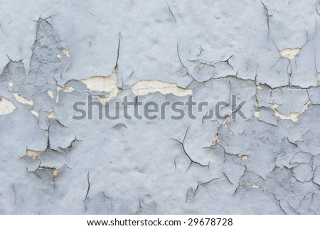 peeling paint from cement wall. grunge background - stock photo