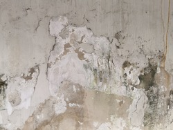Peeling paint on wall seamless texture. Pattern of rustic white grunge material.Texture, pattern, background. old paint. Concrete wall cracked paint.