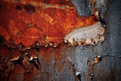 Peeling paint rusting metal rough texture