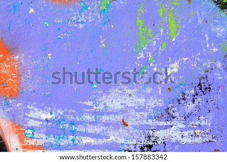 Peeling paint / Torn street posters / Grunge background / Abstract / Graffiti background