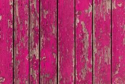 Peeling Pink Paint Wooden Background