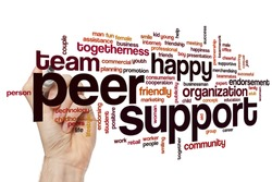 Peer support word cloud concept