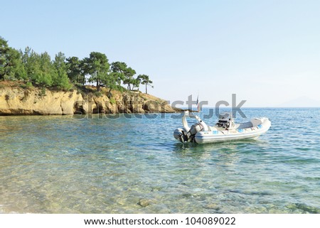 Pefkari beach , in Thasos island - Greece