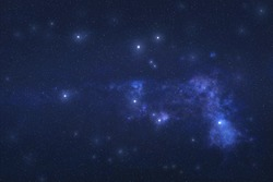 Pegasus Constellation in outer space. Pegas constellation stars on the night sky. Elements of this image were furnished by NASA