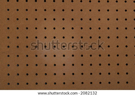 pegboard background empty