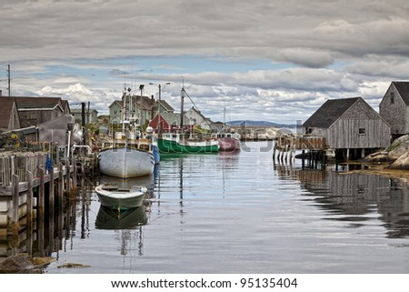 Peggy's Cove is a quiet fishing village on the Southern shore of Nova Scotia