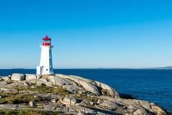 Peggy's Point Lighthouse, Peggy's Cove, Nova Scotia, Canada.October 11,2014.