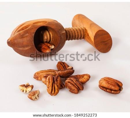 pekan nuts dried fruit food Zdjęcia stock ©