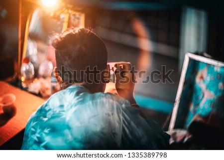 Peking Opera performers are the makeup. #1335389798