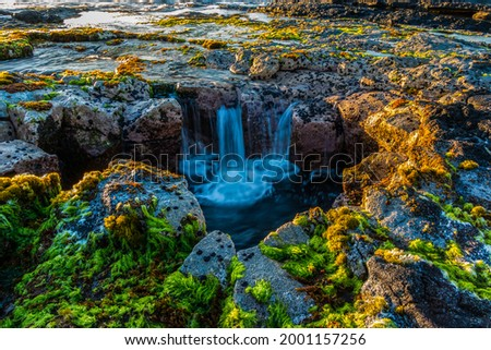 Pele's Well on The Kona Coast, Hawaii Island, Hawaii, USA Foto stock ©