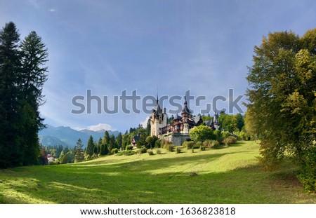 Peles Castle in Sinaia, Romania Foto stock ©