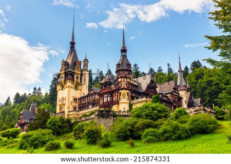 Peles castle, Sinaia, Romania  Foto stock ©