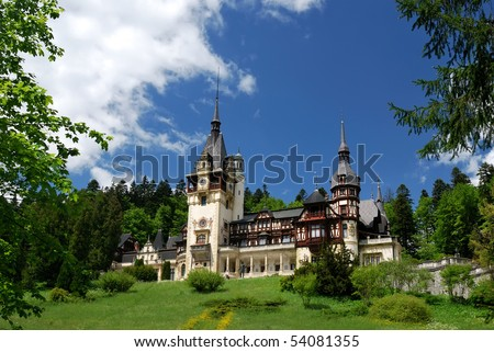 Peles Castle, Sinaia, Romania, the former kingdom residence