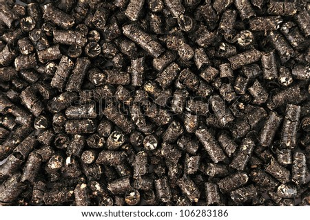 pellets on a white background