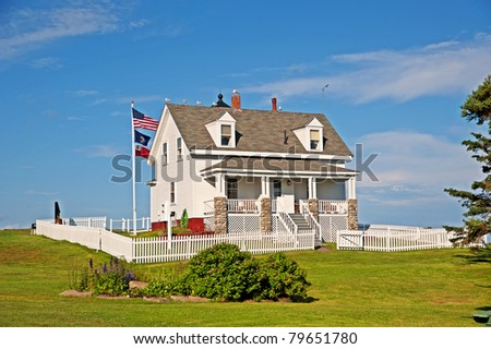 Pemaquid Point Coast Guard Station in Maine USA