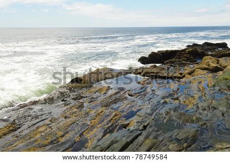 Pemaquid Point coastal rock formations