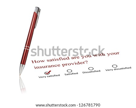 Pen and checklist isolated over white background.