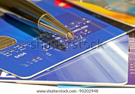 Pen and credit cards
