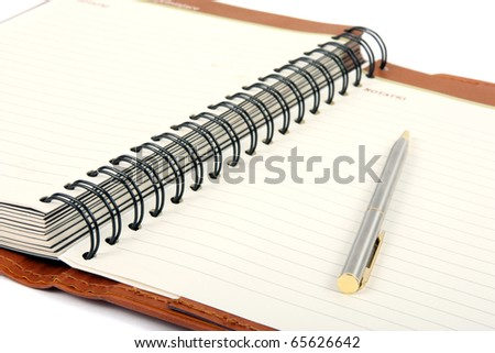 Pen and opened agenda