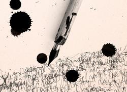 pen, inkjet bob and calligraphy