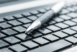 Pen on the keyboard
