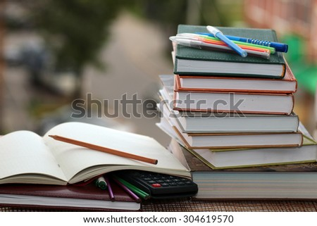 pen pencil study textbooks