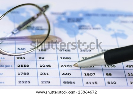pen showing global sales