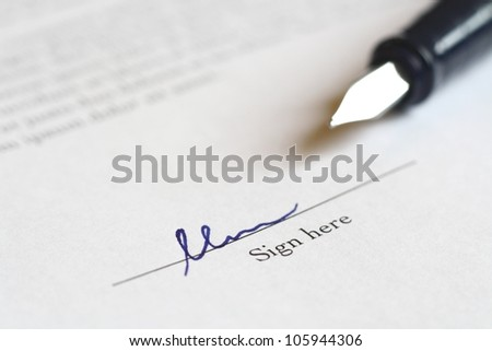 pen to sign a deal