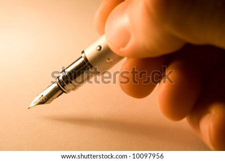 pen with finger
