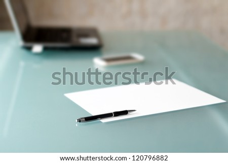 Pen with paper nobody