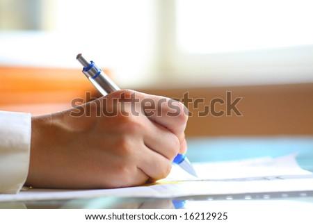 pen work hand work