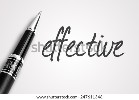 pen writes effective on paper