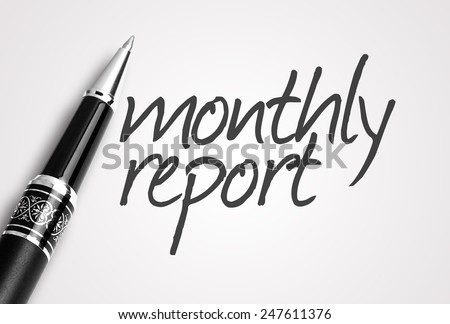 pen writes monthly report on paper