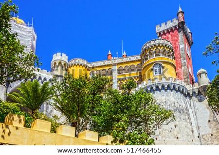 Shutterstock Pena National Palace. Palacio Nacional da Pena, Sintra, Portugal.