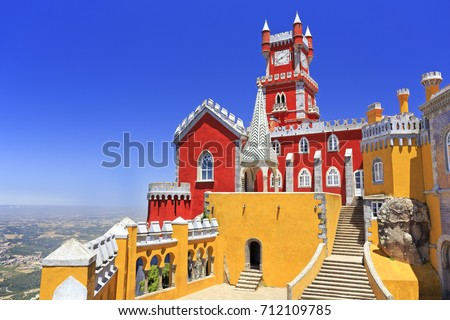 Pena Palace in Sintra, Portugal Foto stock ©