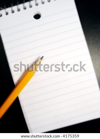 pencil and a pad of paper