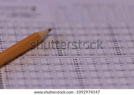 free photos standard test form selective focus on answer sheet