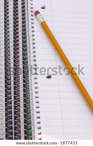 pencil and notebooks