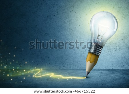 Pencil-Bulb Drawing Light - Creative Idea Concept