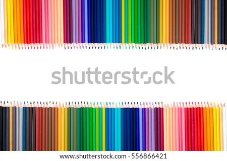 Pencil colors isolate on white background