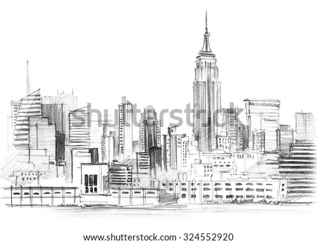 Royalty Free New York City Vector Drawing In Sketch 388299850