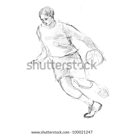 Draw Soccer Player In Action Ez Canvas